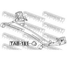 Сайлентблок задней балки (пр-во FEBEST) Toyota Yaris
